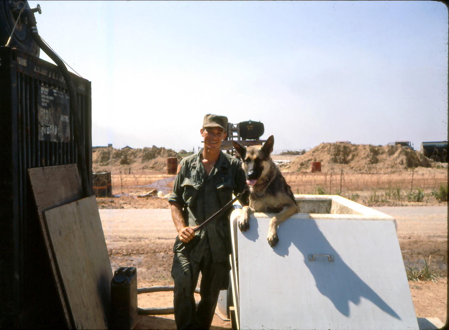 49th scout dog handler Sgt. Bill Berg an