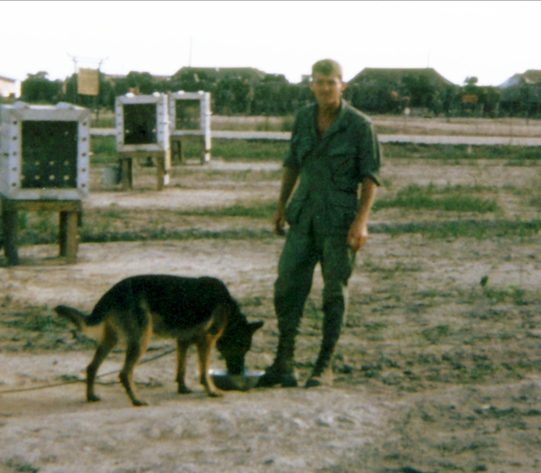 49th scout dog handler Sgt. Kip Livinsto